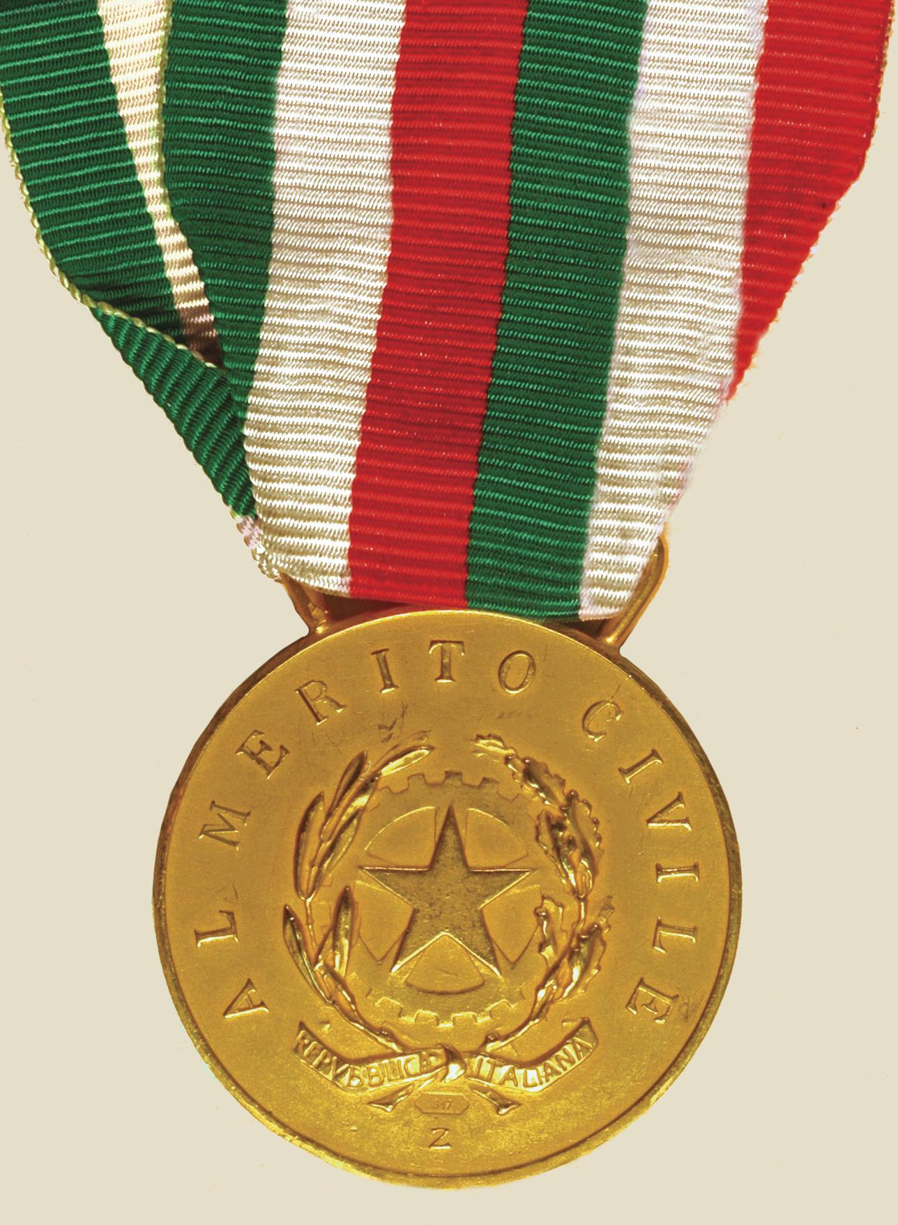 Medaglia d'oro fronte
