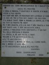 Torano - Poesia in dialetto carrarino dedicata all'Acqua del Pizzutello