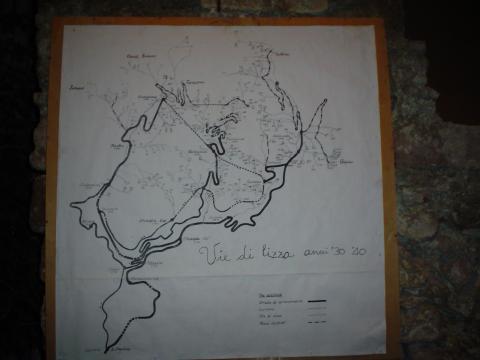 Torano - vie di Lizza anni '30 e '40